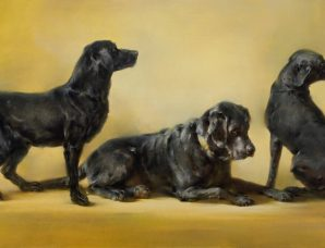 Black Lab Frieze framed ,signed, and numbered Studio giclee print