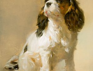 Cavalier Puppy framed, signed and numbered Studio giclee print