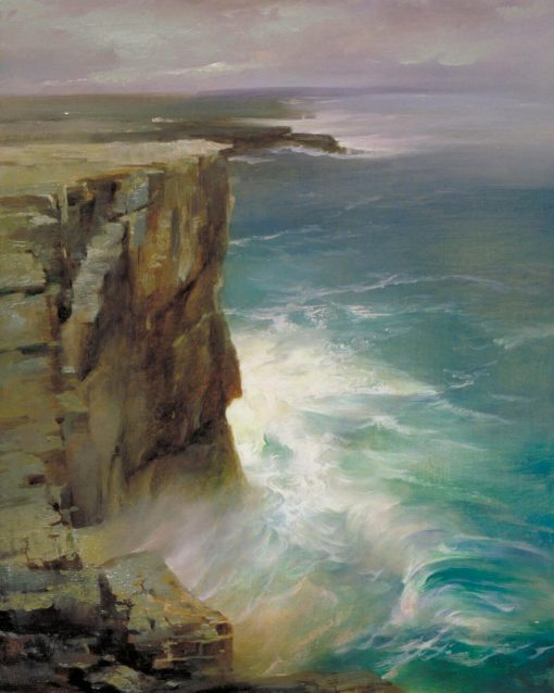 Dun Aengus oil on panel