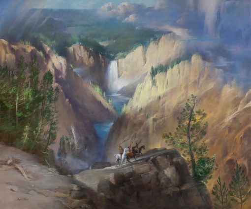 Grand Canyon Of The Yellowstone Oil on prepared linen canvas