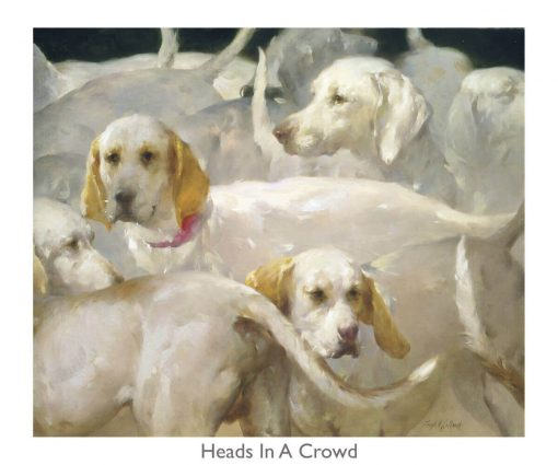 Heads In A Crowd print