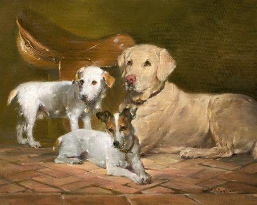 "Hollywood, Tango, and Shiloh 24"" x 30"" oil on canvas"
