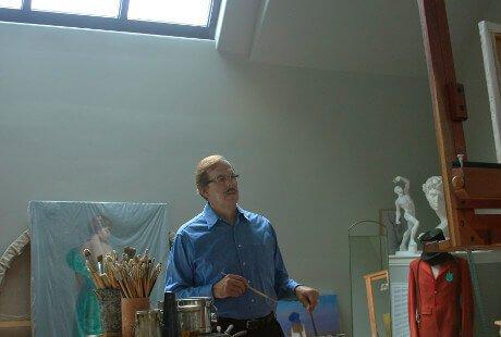 oseph Sulkowski in his studio
