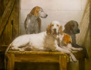 Kennel Days oil on canvas