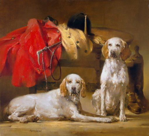 Master And Hounds Oil on prepared linen canvas