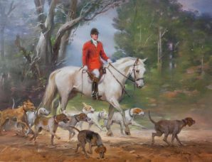 Master Of The Live Oak Hounds oil on prepared canvas