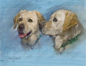 Reef, A Yellow Lab oil on canvas