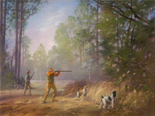 South Georgia Quail Hunting oil on canvas