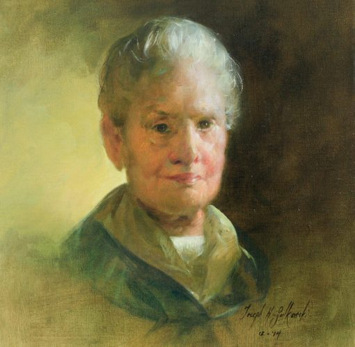 The Artist's Mother, Josephine oil on canvas